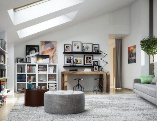 Dachapartement, Einrichtungsideen