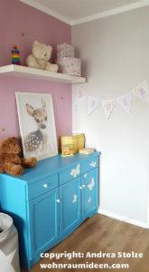Rosa Kinderzimmereinrichtung mit lauter schönen Einzelteilen