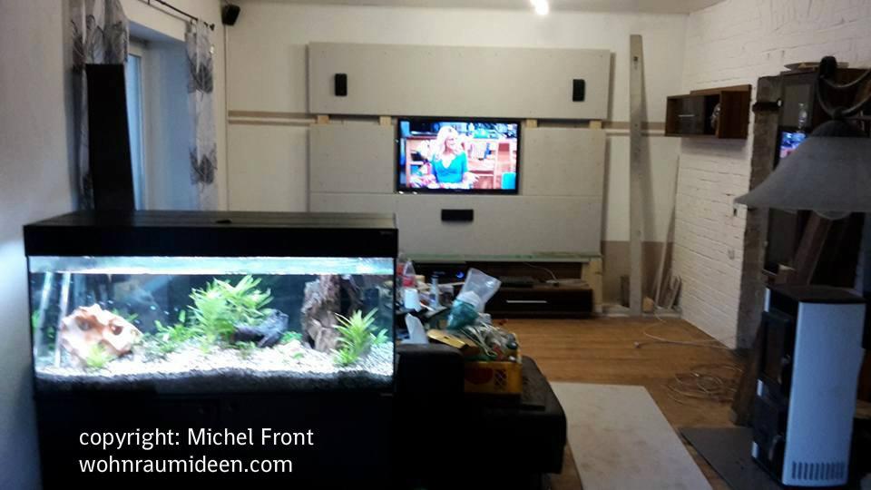 Schicke Fernsehwand selbst bauen